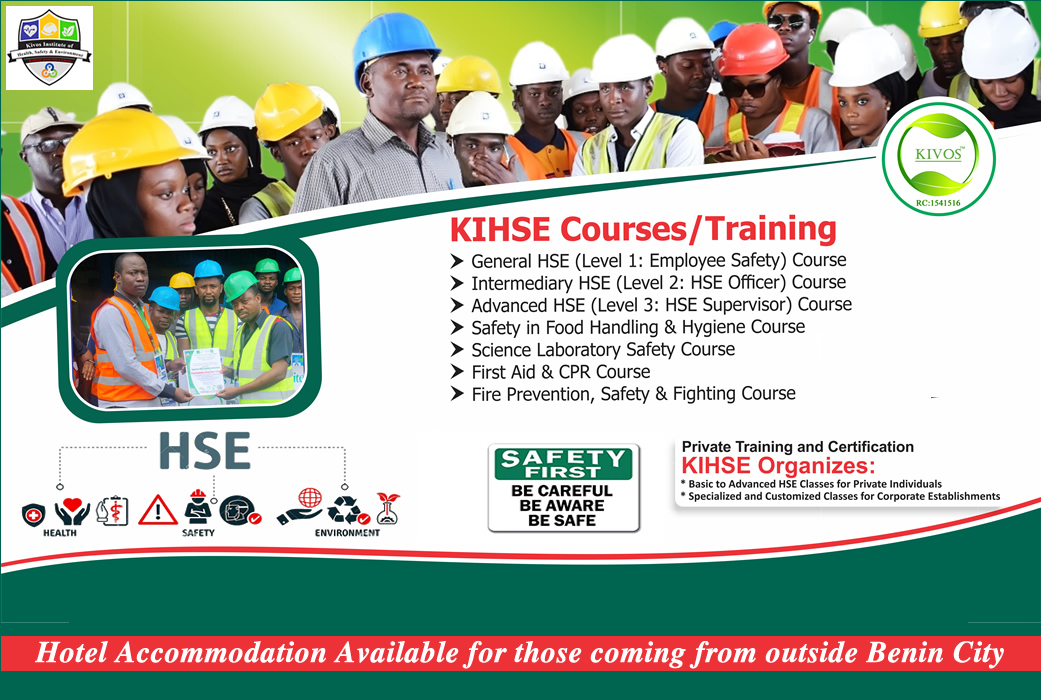 Kivos Institute of Health, Safety and Environment (KIHSE) Benin City, Edo State, Nigeria